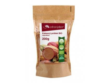 Kakaový prášek BIO nepražený 200g Zdravý den