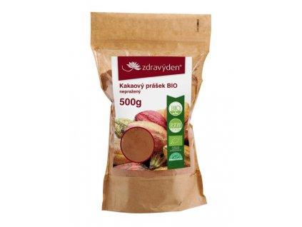 Kakaový prášek BIO nepražený 500g Zdravý den
