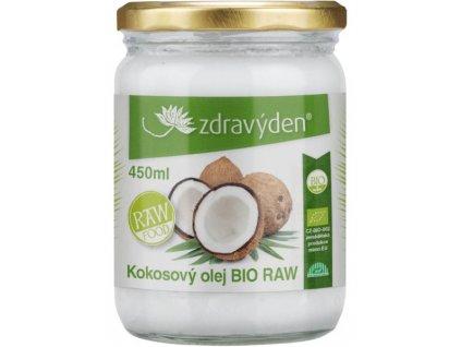 Kokosový olej BIO RAW 450ml Zdravý den