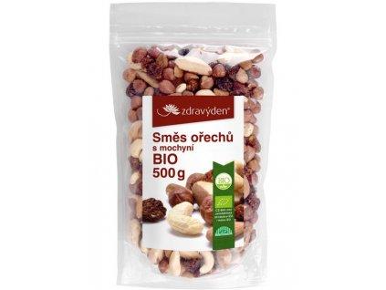 Směs ořechů s mochyní BIO 500g Zdravý den