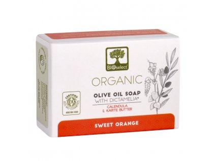 BIOselect® BIO olivové mýdlo SLADKÝ POMERANČ s diktamem 80g BIOselect®
