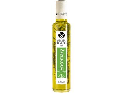 Extra panenský olivový olej s rozmarýnem 250ml DELICIOUS CRETE