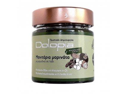 Marinované houby v oleji s bylinkami 200g DOLOPIA