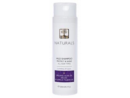 BIOselect® Jemný šampon s arganovým olejem pro ochranu a lesk pro všechny typy vlasů GLOWING RITUALS 250ml BIOselect® NATURALS