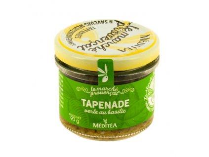 Meditea Tapenada ze zelených oliv s bazalkou, sklo 90g