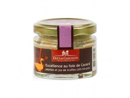 Ducs de Gascogne EXCELLENCE s lanýžem se 20% kachní Foie Gras (sklo), 65g