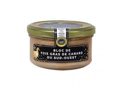 Ducs de Gascogne Kachní Foie Gras z Jihozápadu Francie v bloku (sklo), 130g