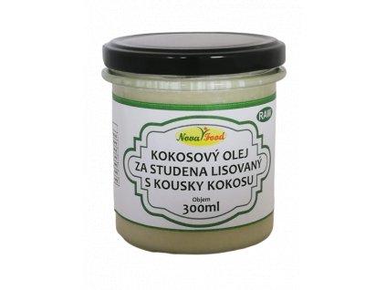 AKCE RAW Kokosový olej s kousky kokosu 300ml NOVAFOOD