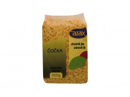 Čočka žlutá loupaná půlená 5000g Arax