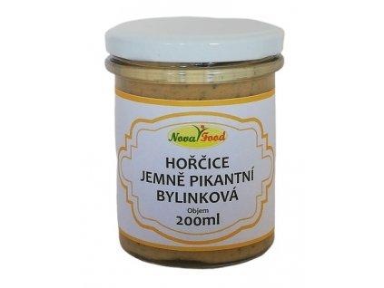 Hořčice jemně pikantní bylinková 200ml Novafood