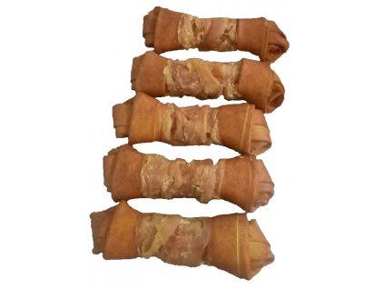 Buvolí uzel uzený obalený kuřecím masem JUKO Exclusive Snacks 15 cm (6 ks)