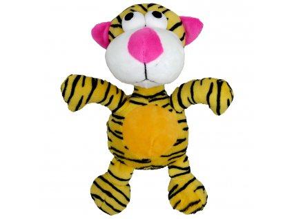 Hračka pes - plyšový tygr pískací 20 cm