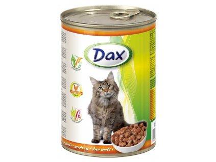 DAX  kousky CAT DRŮBEŽÍ 415g-(Balení 24 kusů)