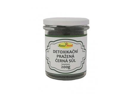 Detoxikační pražená černá sůl Novafood 200g SKLO