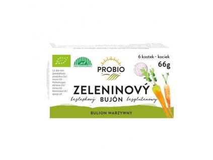 Akce Bujón zeleninový - kostky 6 x 0,5 l 66 g BIO PROBIO