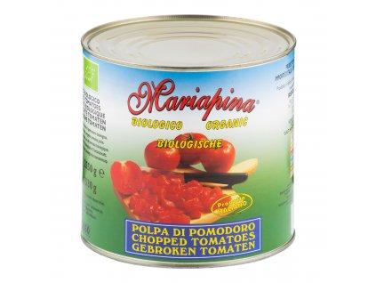 Rajčata sekaná sterilovaná 2,5kg BIO MARIAPINA
