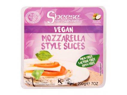 Veganská alternativa sýru mozzarella plátky 200 g SHEESE