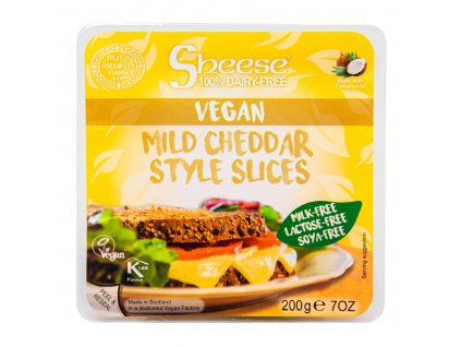 Veganská alternativa sýru cheddar plátky 200 g SHEESE