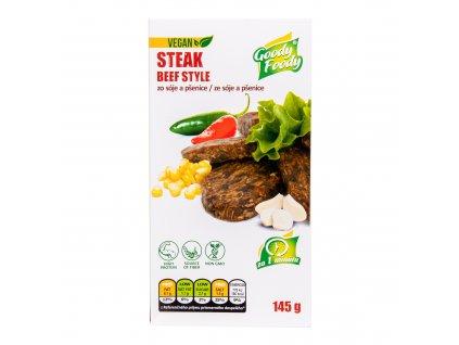 Veganská alternativa hovězího steaku 145g GOODYFOODY