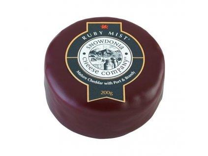 Akce Snowdonia Sýr Cheddar RUBY MIST, s portským vínem, 200g