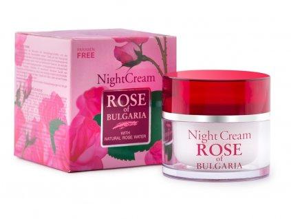 Noční pleťový krém z růžové vody 50ml Biofresh