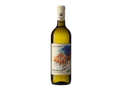 Víno bílé Chardonnay ročník 2019 Válka - výběr z hroznů (polosladké) 750 ml BIO VINAŘSTVÍ VÁLKA