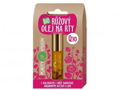 Bio Růžový olej na rty 10ml Purity Vision