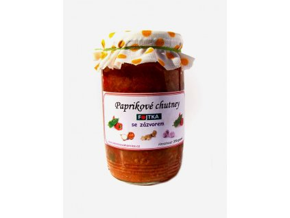 Paprikové chutney se zázvorem