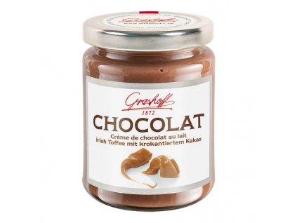 Grashoff Mléčný čokoládový krém s kakaovými křupinkami a vůní karamelu, sklo, 250g
