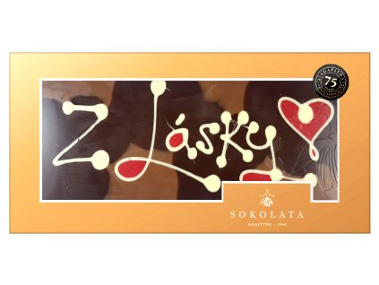 MEGA velká čokoláda s nápisem 160g SOKOLATA AGAPITOS text na čokoládě: Z LÁSKY