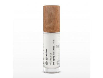 BioAroma kosmetika THEANGÉLIS BIO sérum proti stárnutí na oči a obličej s diktamem, Cistem a Helichrysum pro všechny typy pleti 30ml BioAroma
