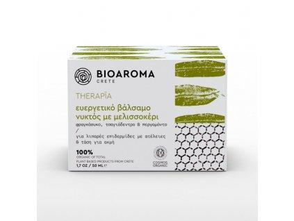 BioAroma kosmetika THERAPÍA BIO čistící noční krém proti akné s Opuncií, tea-tree olejem a bergamotem na mastnou pleť 50ml BioAroma