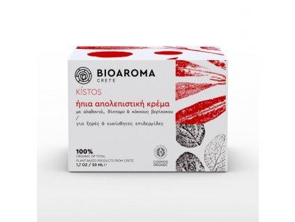 BioAroma kosmetika KÍSTOS BIO jemný exfoliační krém s diktamem, meduňkou a řebříčkem pro všechny typy pleti 50ml BioAroma