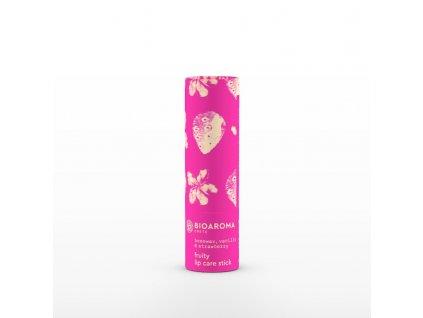 BioAroma kosmetika BIO balzám na rty s vanilkou a jahodami 5ml BioAroma