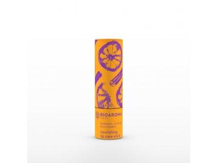 BioAroma kosmetika BIO balzám na rty s pomerančem a skořicí 5ml BioAroma