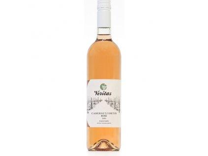 Víno růžové Cabernet Cortis ročník 2020 - pozdní sběr (polosuché)750 ml BIO VERITAS