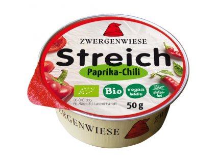 Pomazánka s paprikou a chilli 50 g BIO  - nová receptura ZWERGENWIESE