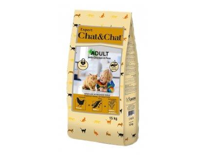 Chat & Chat Expert Adult kuřecí s hráškem 15kg