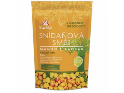 Iswari Snídaňová směs Mango-baobab 300g