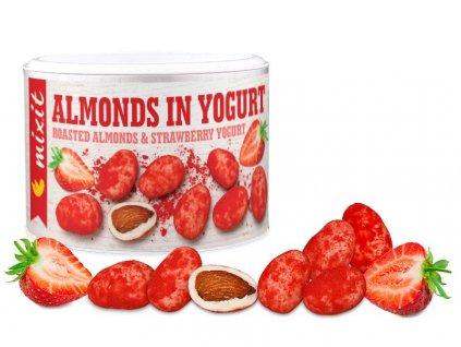 Mandle v jogurtu s jahodovým prachem 240g