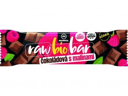 Bio Tyčinka čokoládová s malinami 40g Markol