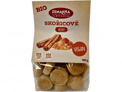 Bio sušenky se skořicí 100g Biopekárna Zemanka