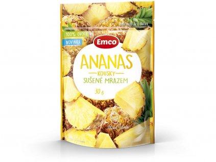 Mrazem sušený ananas 30g Emco