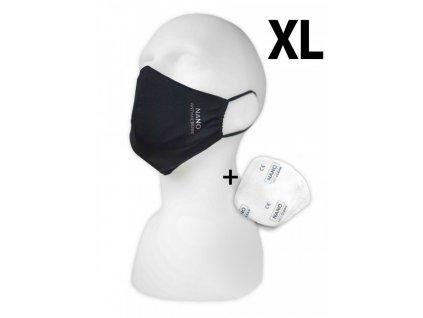 Pemitex Rouška s 5 NANO filtry velikost XL 1ks