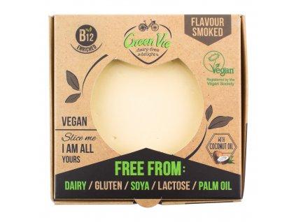 AKCE Veganská alternativa sýru uzená gouda blok 250g GREENVIE
