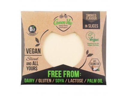 AKCE Veganská alternativa sýru uzená gouda plátky 180g GREENVIE