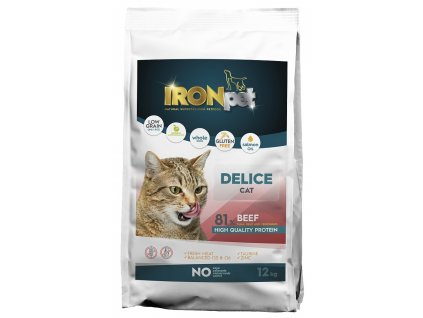 IRONpet Cat Delice Beef (Hovězí) 12 kg