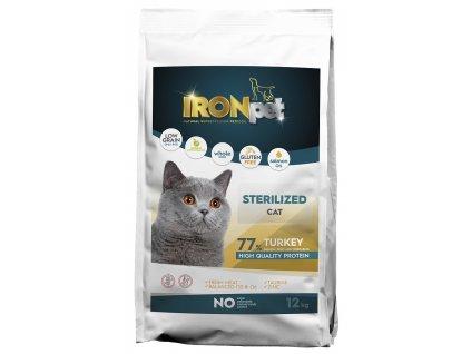 IRONpet Cat Sterilized Turkey (Krůta) 12 kg