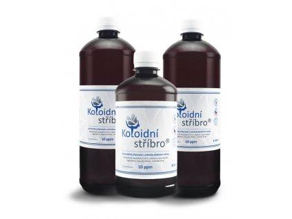 Koloidní stříbro 2 litry + 500 ml zdarma - 20 ppm / Plastové lahve