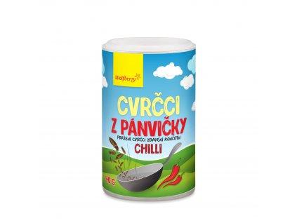Cvrčci z pánvičky - chilli 40 g Wolfberry